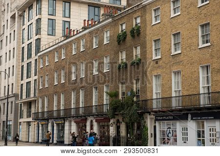 London, Uk - March 22, 2019: 221b Baker Street Is The London Address Of The Fictional Detective Sher