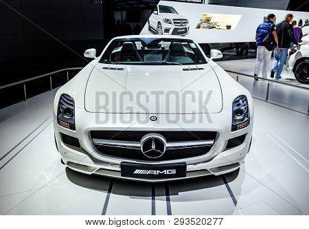 Mercedes-benz At The Exhibition Closeup