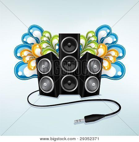 altavoces de música en el modo fiesta