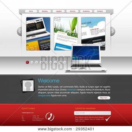 webdesign vector template