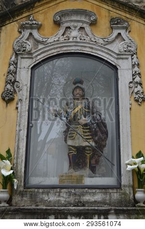 Sculpture Of The Glorious Matir Saint George Protector And Defender Of Portugal In The Parish Of San