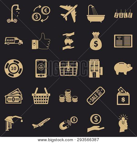 Treasury Icons Set. Simple Set Of 25 Treasury Vector Icons For Web For Any Design