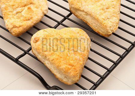 Heart Biscut On Rack
