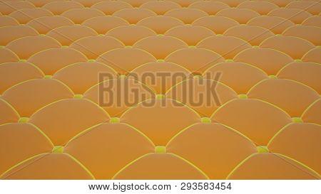 Quilted Fabric Surface. Orange Velvet And Yellow Velvet. Option 1