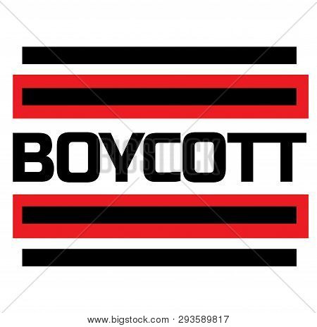 Boycott Stamp On White Background. Labels And Stamps Series.