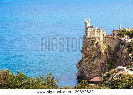 Castle Of Swallow's Nest In Black Sea, Crimea, Russia