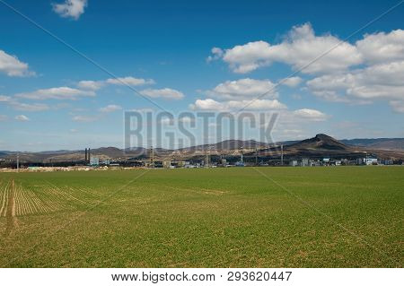 Czech Central Mountains Near Lovosice In Spring