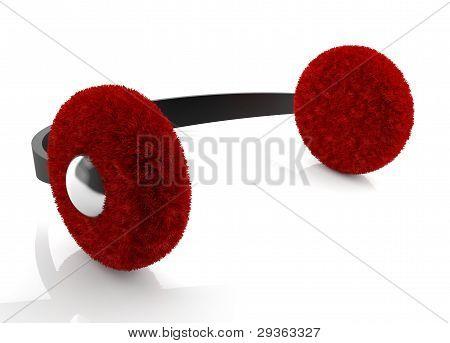 Red Winter Earmuff