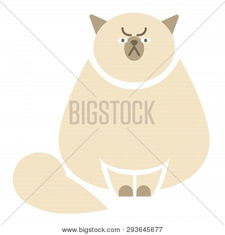 Grumpy cat flat illustration. Home, lifestyle and holiday series. poster