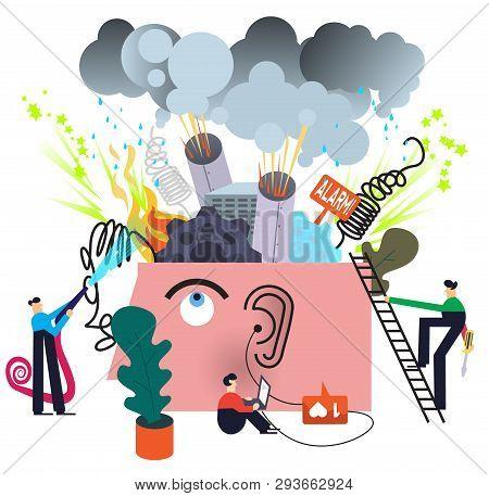 Mental Disorder Treatment Concept Illustration On White