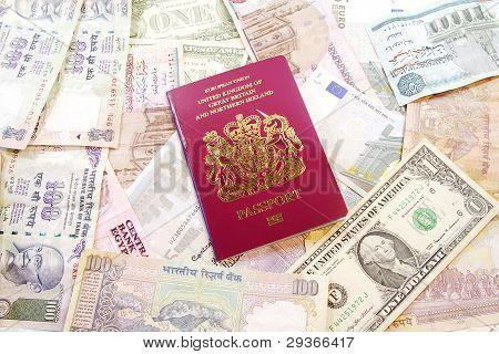 UK Passport on Various Currencies