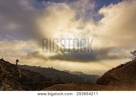 View Of Los Angeles Hillsides From Hiking Trail