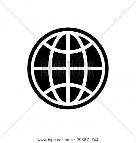Web Globe Icon Isolated On White Background. Web Globe Icon In Trendy Design Style. Web Globe Vector