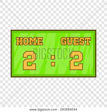 Baseball Score Board Icon In Cartoon Style Isolated On Background For Any Web Design