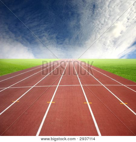 Its a racing track for runners athlete sport poster