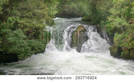 Okere Falls Near Rotorua On The North Island Of Nz