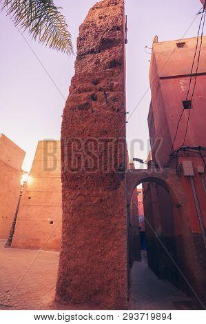 Narrow Streets In Marrakesh. Marrakesh, Marrakesh-safi, Morocco.