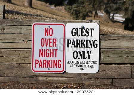 Guest Parking Only And No Overnight Parking