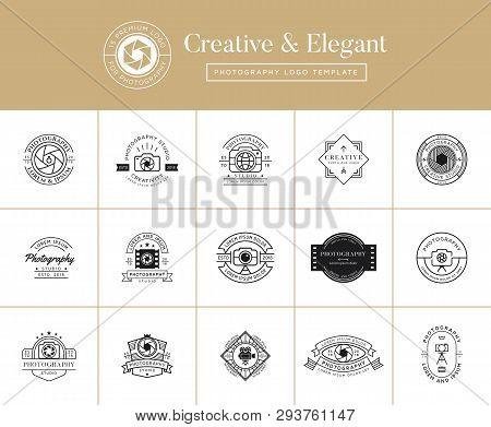 Set Of Premium Photography Emblems, Badges, Labels, Logo Designs. Photography Logo Template