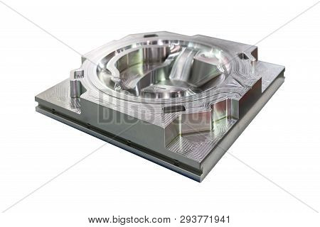 Mold Or Die Machining Part From Manufacture By Cnc Machining Center Material Made From Steel Isolate