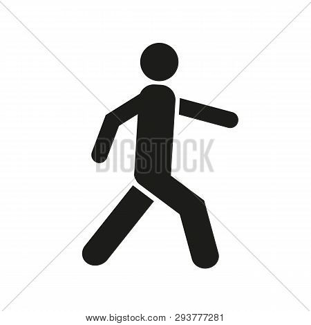 Man Walk Icon . Walking Man Vector Icon. People Walk Sign Illustration. Pedestrian Vector Sign Symbo