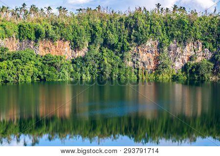 Spectacular Volcanic Crater Lake Lalolalo In The Island Of Uvea Or Wallis, Wallis And Futuna, Wallis
