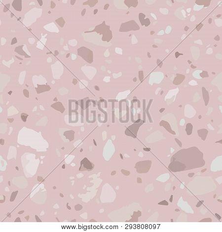 Pink Terrazzo Floor Vector Photo Free Trial Bigstock