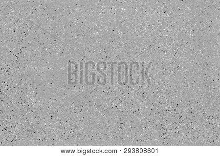 Seamless Asphalt Road Background. Grainy Concrete Texture With Gravel Particles, Small Stones, Black