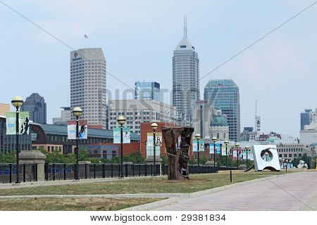 The Skyline Of Downtown Indianapolis, Indiana