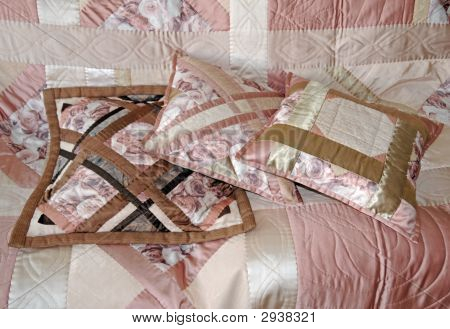 Three Quilted Pillows