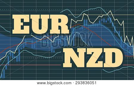 Forex Candlestick Pattern. Trading Chart Concept. Financial Market Chart. Currency Pair. Acronym Eur