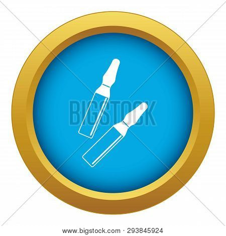 Iodine Sticks Icon Blue Vector Isolated On White Background For Any Design