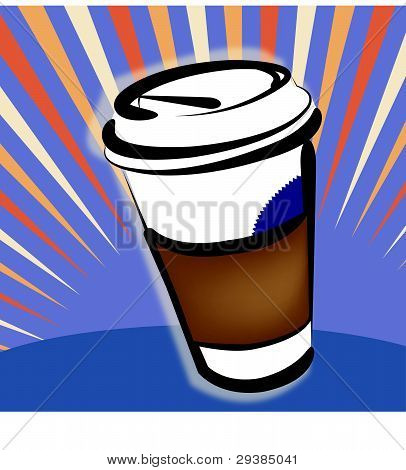 Vector Illustration - Take-out Coffee Cup