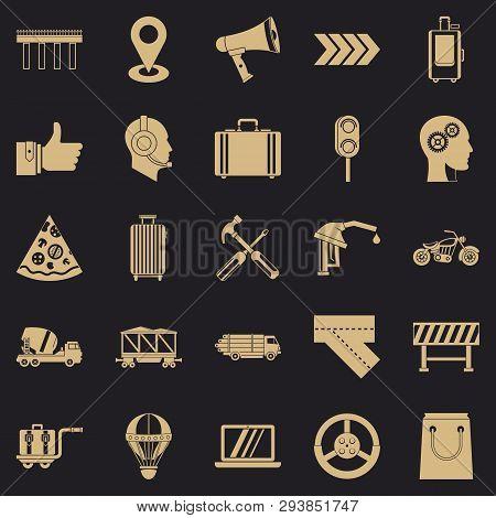 Supplier Icons Set. Simple Set Of 25 Supplier Vector Icons For Web For Any Design