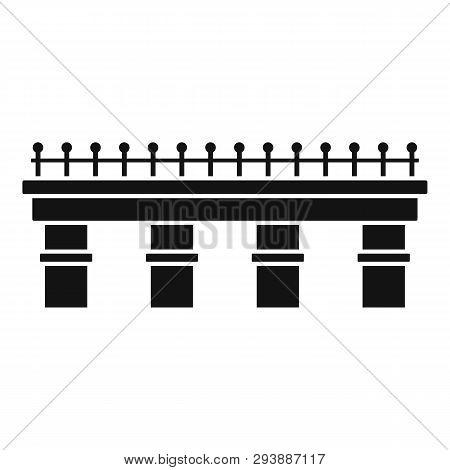 Metal Bridge Icon. Simple Illustration Of Metal Bridge Vector Icon For Web Design Isolated On White