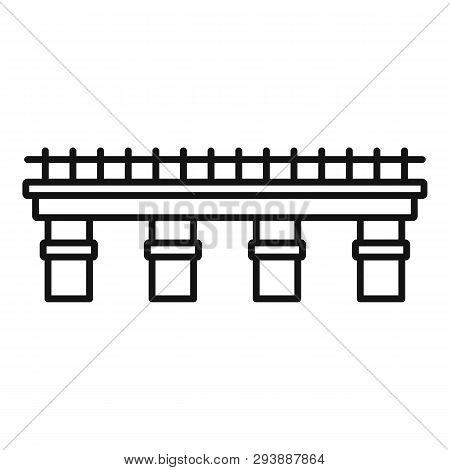 Metal Bridge Icon. Outline Metal Bridge Vector Icon For Web Design Isolated On White Background