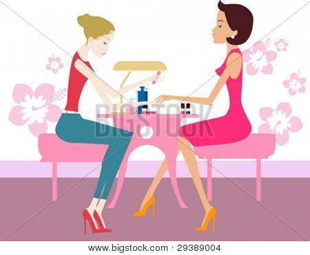 girl with nail polish showing feet