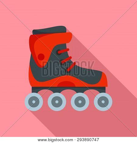 Freestyle Inline Skates Icon. Flat Illustration Of Freestyle Inline Skates Vector Icon For Web Desig