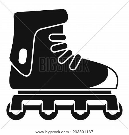 Glide Inline Skates Icon. Simple Illustration Of Glide Inline Skates Vector Icon For Web Design Isol