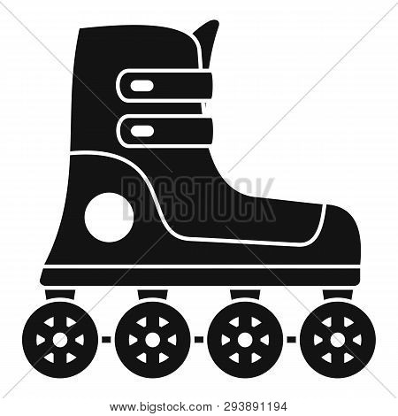 Race Inline Skates Icon. Simple Illustration Of Race Inline Skates Vector Icon For Web Design Isolat