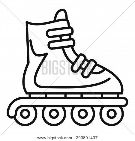 Inline Skates Icon. Outline Inline Skates Vector Icon For Web Design Isolated On White Background