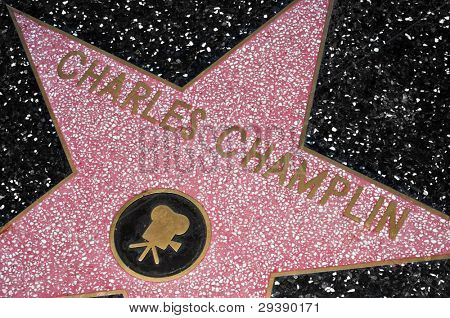 LOS ANGELES - OCTOBER 16: Charles Champlin star in Hollywood Walk of Fame on October 16, 2011 in Los Angeles. Those more than 2,400 five-pointed stars attracts about 10 million visitors annually