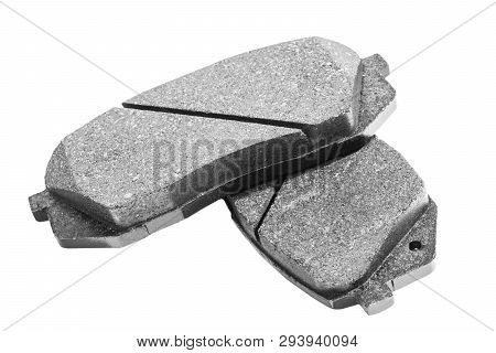 Brake Pads Isolated On White Background. Auto Parts. Brake Pads Isolated On White. Braking Pads. Car
