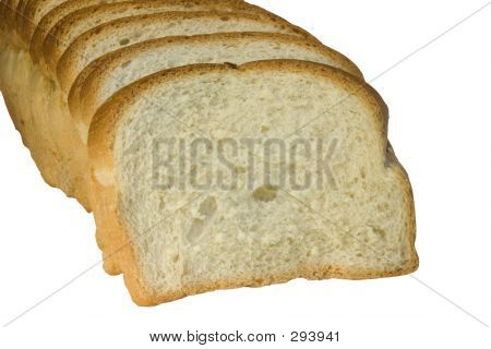 slices of bread isolated on white background poster