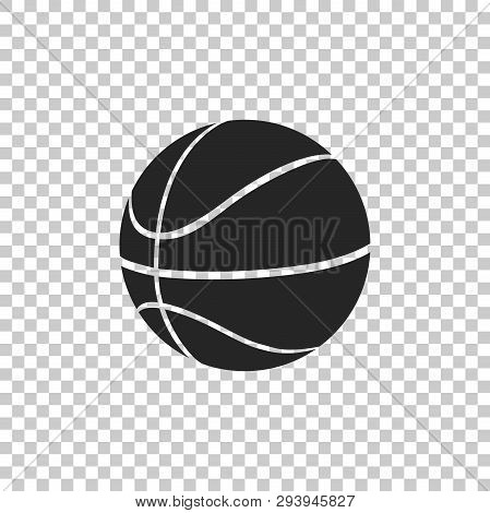 Basketball Ball Icon Isolated On Transparent Background. Sport Symbol. Flat Design. Vector Illustrat