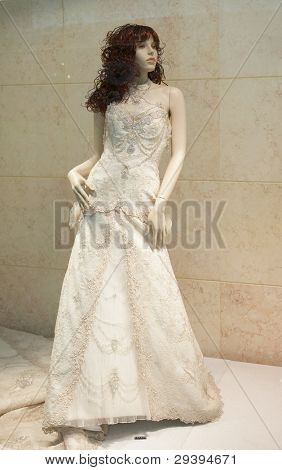 weddings dress on mannequin