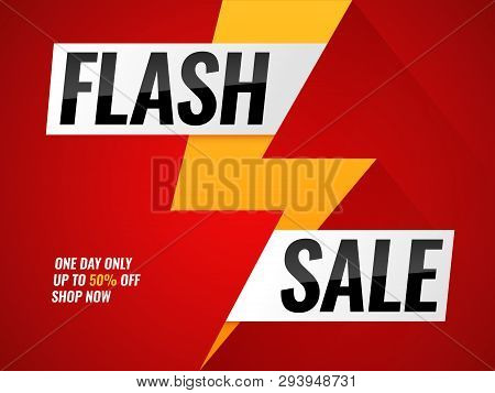 Flash Sale. Flashes Blitz Mega New Deals Buy Shop Sales Offer Poster Hot Price Promo Trendy Sticker