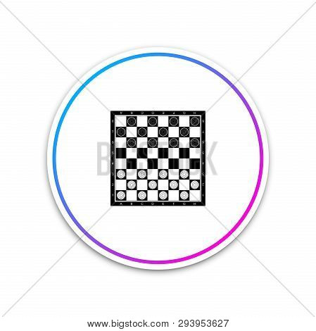 Board Game Of Checkers Icon Isolated On White Background. Ancient Intellectual Board Game. Chess Boa