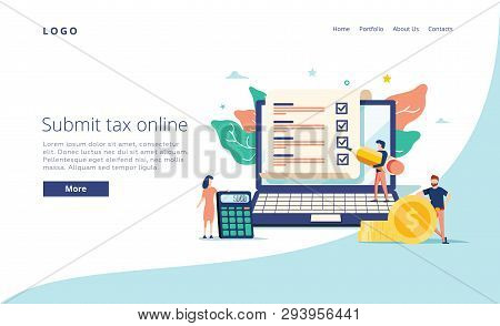 Payroll, Salary Payment Administrative Vector Illustration Concept, Women Accountant Calculating Pay