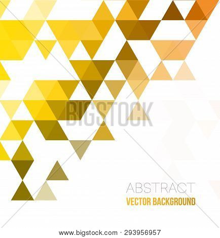 Abstract Geometric Background With Triangles. Vector Illustration